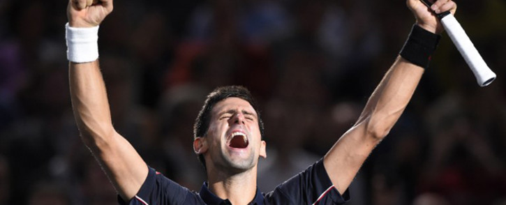 FILE: World no.1 Novak Djokovic celebrates his victory. Picture: AFP
