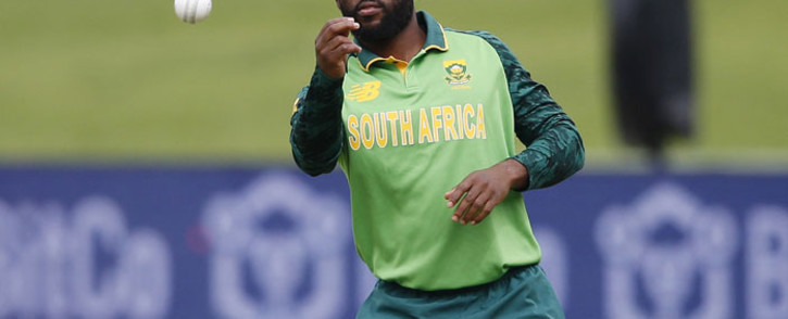 South Africa's captain Temba Bavuma throws the ball during the third one-day international (ODI) cricket match between South Africa and Pakistan at SuperSport Park in Centurion on 7 April 2021. Picture: Phill Magakoe/AFP