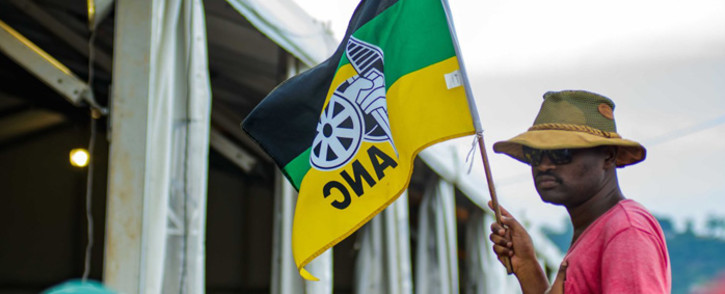 FILE: An ANC supporter waves the party's flag. Picture: @MYANC/Twitter