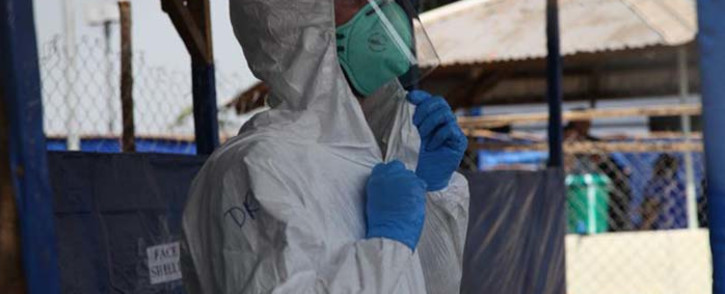FILE: A healthcare worker in the Democratic Republic of Congo at a Ebola treatment facility. Picture: @WHOAFRO/Twitter.