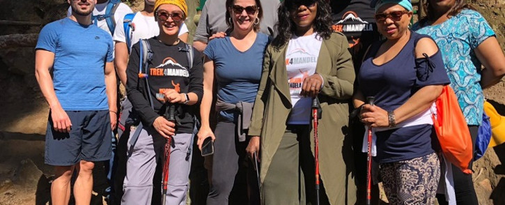 The Trek4Mandela team. Picture: Thuli Madonsela Foundation.