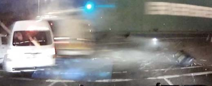 A screen grab of the video that caught the moment of impact of the horrific Pinetown accident on film.  Picture:YouTube