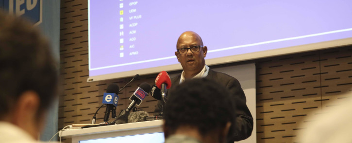 IEC Western Cape head Courtney Sampson briefs the media at the Western Cape Results Centre on 9 May 2019. Picture: Cindy Archillies/EWN