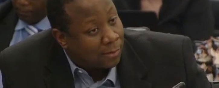 A screengrab shows acting Ipid head Victor Senna in Parliament on 6 March 2019.