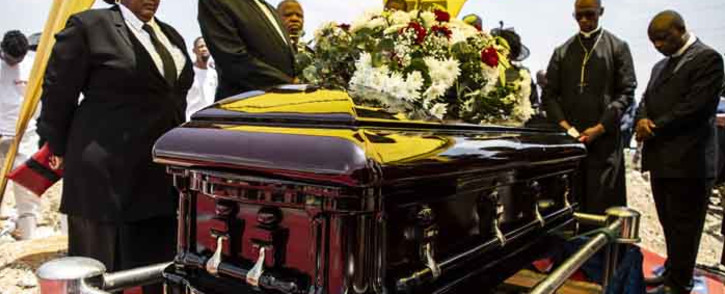 """Jabulani """"HHP"""" Tsambo is buried in the Heroes Acre section in the Matlalong cemetery in Mmabatho. Picture: Abigail Javier/EWN."""