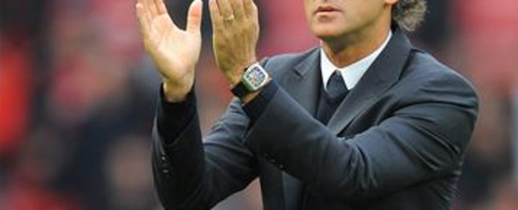 Manchester City's Italian manager Roberto Mancini. Picture: AFP