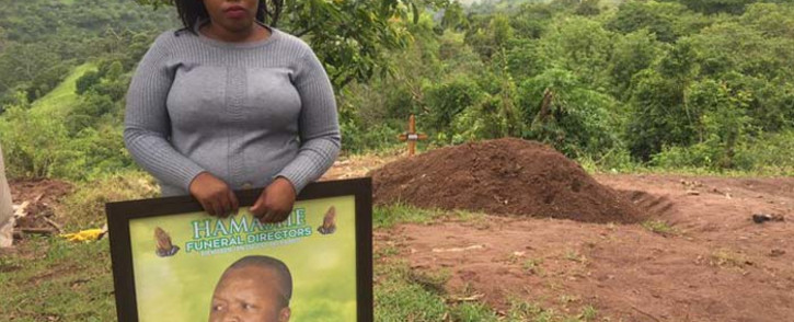 Thandaza Mtshali, the niece of the deceased Sifiso Mtshali whose corpse was dragged to Old Mutual's offices in KwaDukuza, KwaZulu-Natal, so that the insurance company could pay out the money due to the family. Picture: Nkosikhona Duma/EWN.