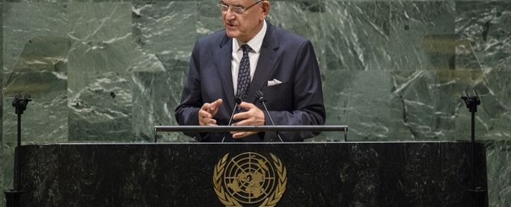 This UN handout photo shows Volkan Bozkir, President of the seventy-fifth session of the United Nations General Assembly, delivers closing remarks to the general debate of the 75th session of the United Nations General Assembly, on 29 September 2020, in New York. Picture: AFP