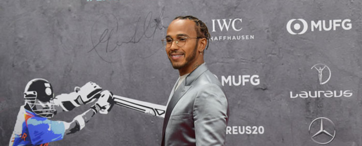 Formula One world champion Lewis Hamilton poses on the red carpet prior to the 2020 Laureus World Sports Awards ceremony in Berlin on 17 February 2020. Picture: AFP