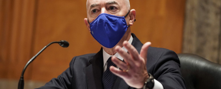 In this file photo taken on January 19, 2021, Alejandro Mayorkas, nominee to be Secretary of Homeland Security, testifies during a Senate Homeland Security and Governmental Affairs confirmation hearing on Capitol Hill in Washington, DC. Picture: Joshua Roberts/AFP.