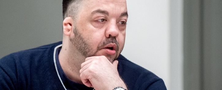 Former nurse Niels Hoegel, accused of killing more than 100 patients in his care, waits at court for his verdict at court in Oldenburg, northern Germany, on 6 June 2019. Picture: AFP