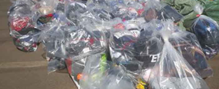 Police seize counterfeit goods worth more than R10m at Dragon City Mall on 11 September 2019. Picture: @SAPoliceService/Twitter