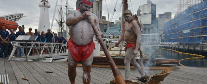 FILE: Australian aboriginal elders perform a smoking ceremony. Picture: AFP