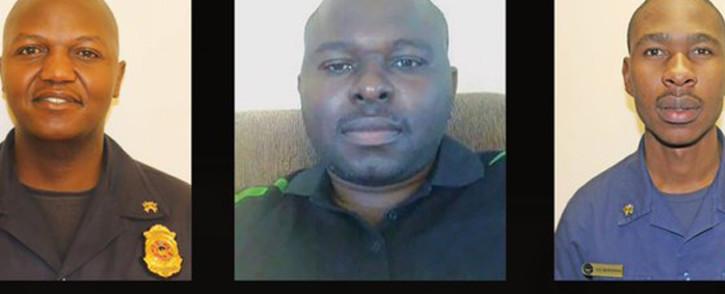 Mduduzi Ndlovu, Khathutshelo Muedi and Simphiwe Moropana died while battling a fire at a Johannesburg building. Picture: @CityofJoburgEMS/Twitter.