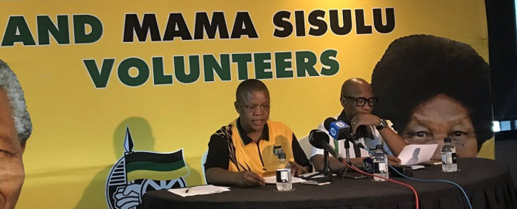 The ANC's Dakota Legoete and Zizi Kodwa at the party's list conference in Durban. Picture: Ziyanda Ngcobo/EWN.