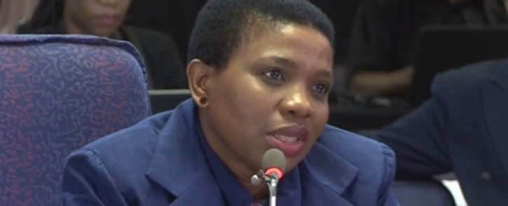 FILE: Advocate Nomgcobo Jiba at the Mokgoro inquiry on 21 February. Picture: Kayleen Morgan/EWN.