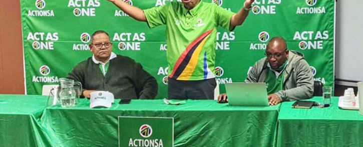 FILE: ActionSA leader Herman Mashaba (centre) makes a point during an engagement in Dobsonville on 11 October 2020. Picture: @Action4SA/Twitter