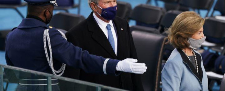 FILE: Former US President George W. Bush and former US First Lady Laura Bush. Picture: Erin SCHAFF/POOL/AFP