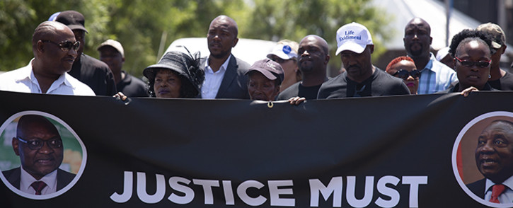 Family members who lost loved ones in the Life Esidimeni tragedy attend a memorial service hosted by the DA. Picture: Kayleen Morgan/EWN