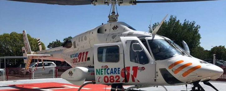 Netcare 911 paramedics airlifted two people to hospital after two vehicles collided on Summit Road in Midrand on Sunday. Picture: @Netcare911_sa/Twitter