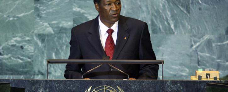FILE: Former president of Burkina Faso Blaise Compaoré. Picture: UN Photo