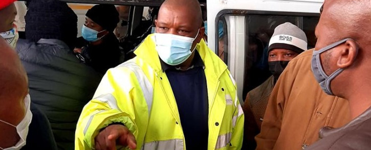 FILE: Gauteng Transport MEC Jacob Mamabolo on a walkabout at Noord taxi rank on Tuesday, 22 June 2021. Picture: Gauteng Health.