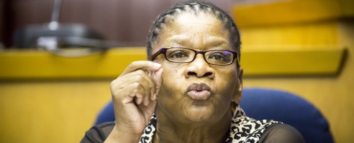 National Council of Provinces Chairperson Thandi Modise. Picture: Thomas Holder/EWN.