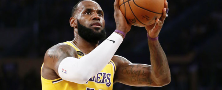 LeBron James of the Los Angeles Lakers is seen at the free-throw line during a game against the Brooklyn Nets at the Staples Center on 10 March 2020 in Los Angeles, CA. Picture: AFP