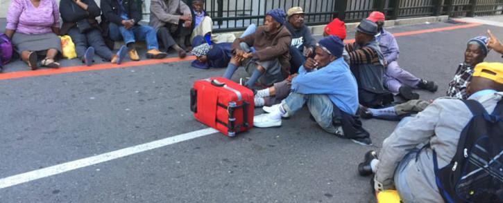 FILE: Protesting pensioners protest outside Parliament. Picture: Xolani Koyana/EWN.