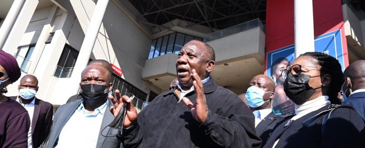 President Cyril Ramaphosa conducted an oversight visit to KZN on Friday, 16 July 2021. Picture: GCIS.