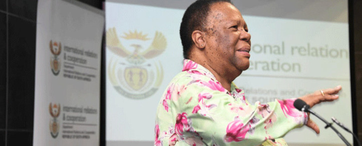 International Relations and Cooperation Minister Naledi Pandor on 18 November 2019. Picture: @DIRCO_ZA/Twitter.
