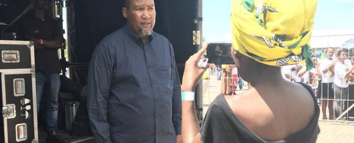 "Zwelivelile ""Mandla"" Mandela speaks ahead of the Mandela centennial celebrations in Cape Town on 11 February 2018. Picture: Monique Mortlock/EWN"