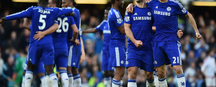 Chelsea are one win away from clinching the EPL title for the first time in five years. Picture: AFP.