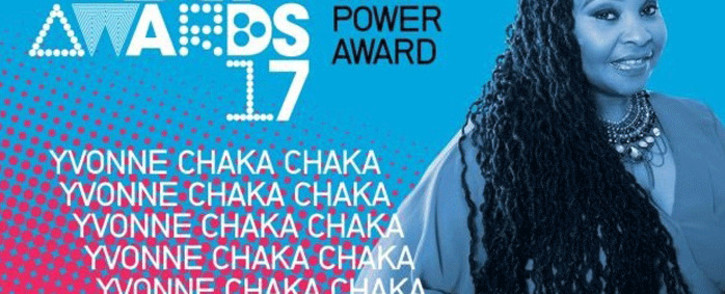 Yvonne Chaka Chaka received the International Global Good Star and Power Award at 2017 BET Awards. Picture: Twitter/@YvonneChakaX2