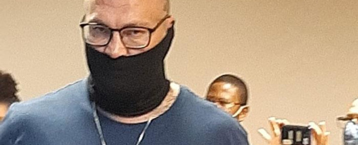 Zane Kilian appeared in the Bellville Regional Court on 18 March 2021 for the verdict on his bail application related to the murder case of anti-gang unit detective, Charl Kinnear. Picture: Supplied