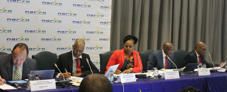 The Nersa panel listens to hearings on Eskom's proposed tariff increase. Picture: @NERSA_ZA/Twitter