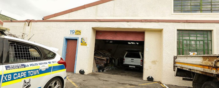 A warehouse in Bellville, Cape Town where police seized abalone worth R2 million. Picture: @SAPoliceService/Twitter