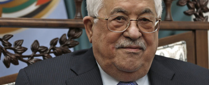 Palestinian leader Mahmud Abbas smiles during his meeting with the Italian foreign minister at the Palestinian Authority's headquarters in the West Bank city of Ramallah on 29 January 2019. Picture: AFP