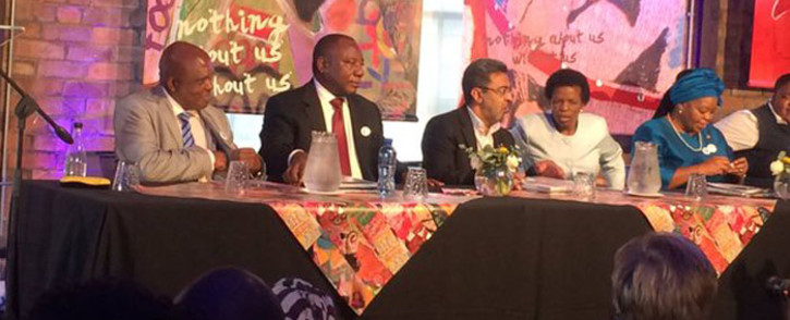 Deputy President Cyril Ramaphosa at the launch of the National Health Workers HIV Plan. Picture: Masa Kekana/EWN
