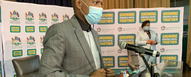 FILE: Former Health Minister Zweli Mkhize delivered a speech at Grey's Hospital in Pietermaritzburg where the country's first COVID-19 patient was treated. Picture: @DrZweliMkhize/Twitter