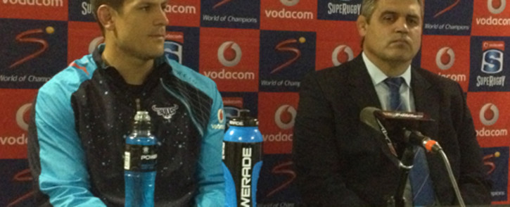 Bulls captain Pierre Spies and coach Frans Ludeke. Picture: Marc Lewis/EWN.
