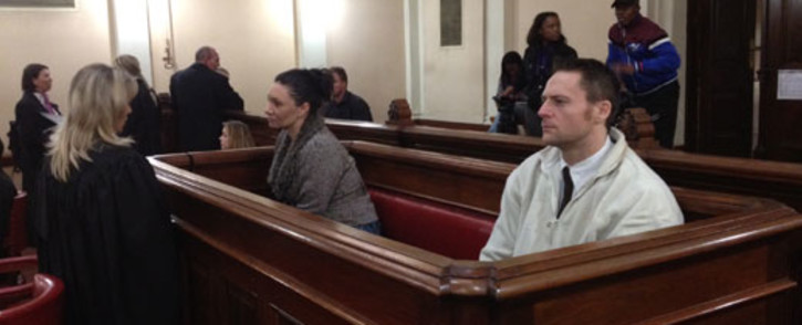 Baby Wade's parents Marissa Rudman and Nolan Schoeman in the North Gauteng High Court. Picture: Barry Bateman/EWN