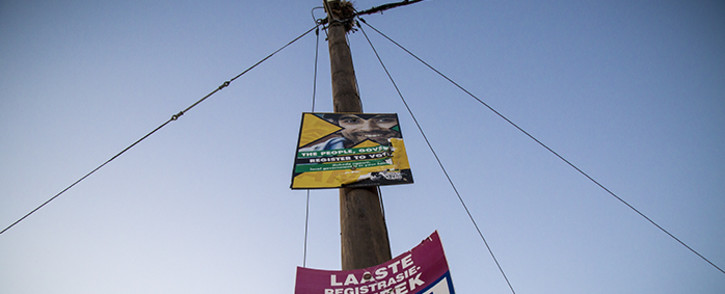FILE: Election posters hang on a lamp post in Carnarvon, in the Kareeberg Municipality in the Northern Cape. Picture: Thomas Holder/EWN