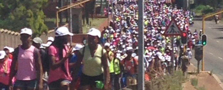 The five kilometre walk began this morning at the Union Buildings. Picture: @mandelarw.