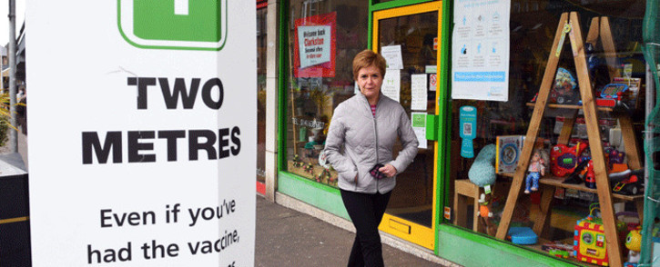 Scotland's First Minister and leader of the Scottish National Party (SNP), Nicola Sturgeon campaigns in Glasgow, Scotland on May 2, 2021, ahead of the upcoming Scottish Parliament election which is to be held on May 6, 2021. Picture: Andy Buchanan / POOL / AFP