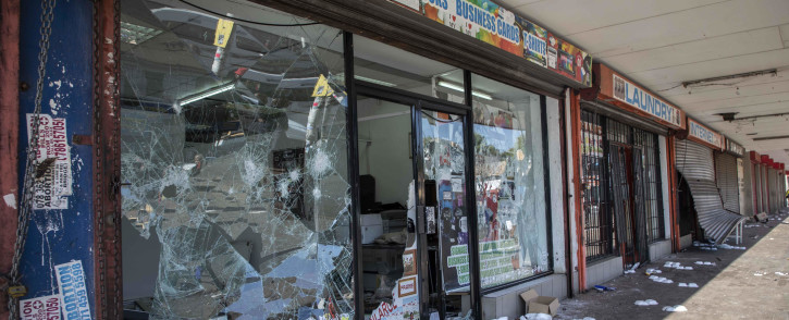 Several shops were looted and set alight in Malvern on 1 September 2019. Picture: Abigail Javier/EWN