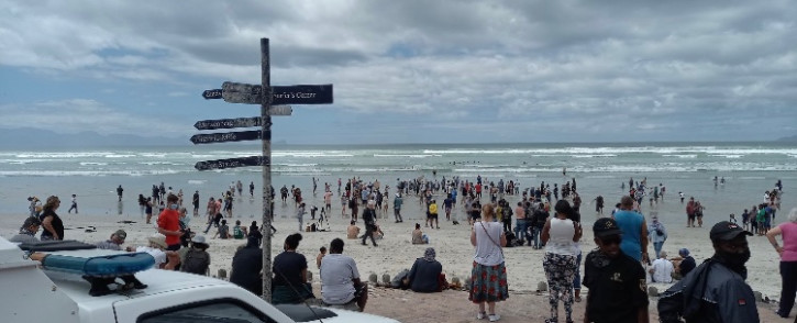 The EFF in the Western Cape condemned the protests to open the beaches on 30 January 2021. Picture: @EFFWesternCape_ on Twitter.