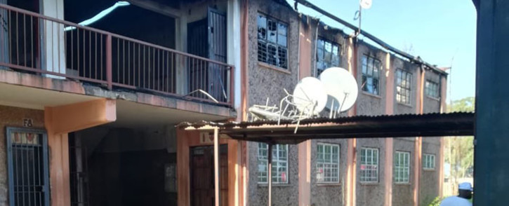 Three classrooms have been destroyed in a fire at the Tokelo Secondary School in the Vaal. Picture: Supplied