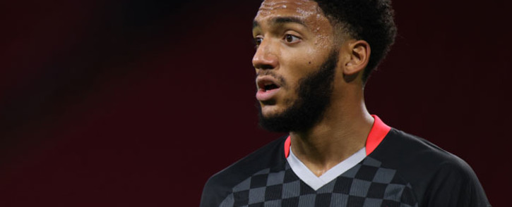 Liverpool defender Joe Gomez reacts during the UEFA Champions League Group D first-leg football match between Ajax Amsterdam and Liverpool FC at the Johan Cruijff Arena in Amsterdam on 21 October 2020. Picture: AFP