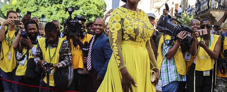 Public Protector Advocate Thuli Madonsela on the red carpet at Parliament ahead of President Jacob Zuma's 2016 State of the Nation address. Picture: Aletta Harrison/ EWN.